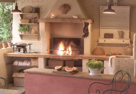 Maison de charme louer en provence house to rent in provence - Cuisine d ete couverte ...